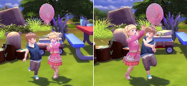 Balloon Pose (Toddler) at A luckyday image 8516 Sims 4 Updates