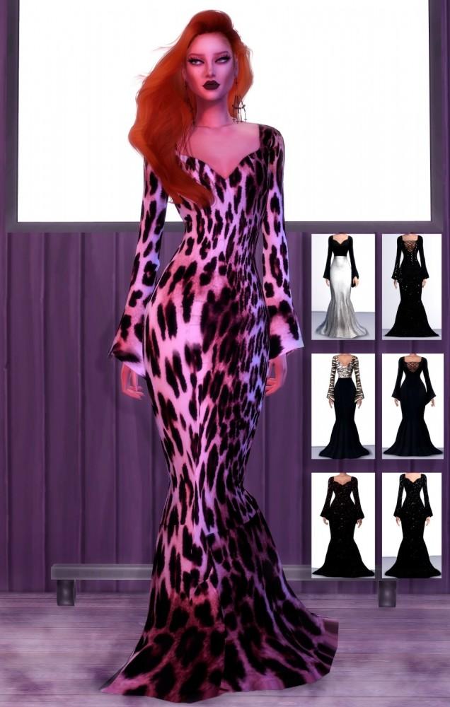 Sims 4 Elizabeth Dress retextures at Rimshard Shop