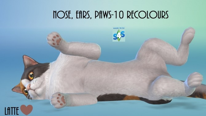 Cats and Dogs Nose, Ears and Paws 10 Recolours by wendy35pearly at Mod The Sims image 859 670x380 Sims 4 Updates