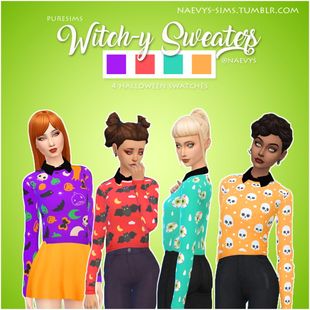 Sims 4 Puresims Witch y Sweaters RECOLOR by Naevys at SimsWorkshop