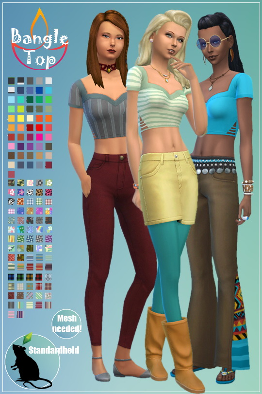 Recolor of Ridgeports Bangle top by Standardheld at SimsWorkshop image 861 Sims 4 Updates