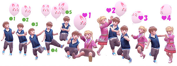 Balloon Pose (Toddler) at A luckyday image 8715 Sims 4 Updates