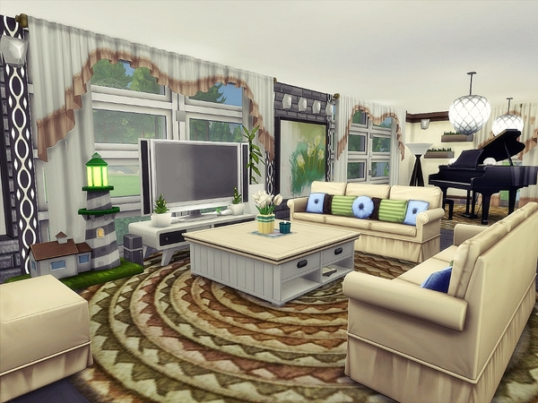 Square Valley house by Nessca at TSR image 890 Sims 4 Updates