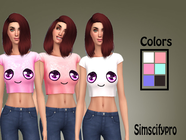 Sims 4 Cute Crop Top by SimscifyPro at TSR