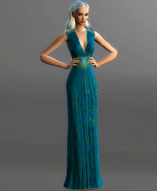 Simplified Qarth Gown Daenerys Targaryen at Magnolian Farewell ...