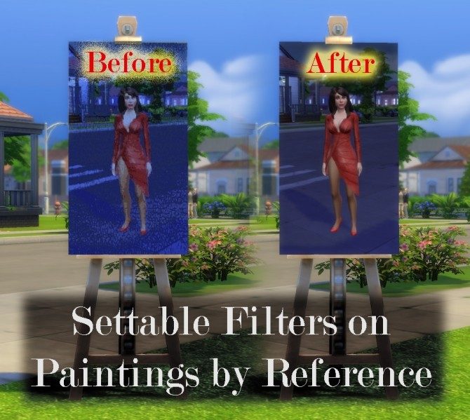 Sims 4 Set Filters on Paintings by Reference by scumbumbo at Mod The Sims