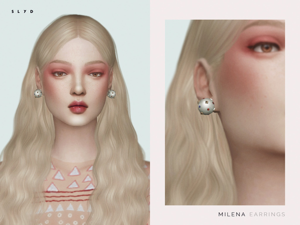Sims 4 Milena Earrings by SLYD at TSR