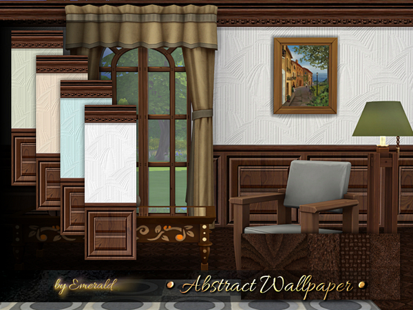 Abstract Wallpaper by emerald at TSR image 919 Sims 4 Updates