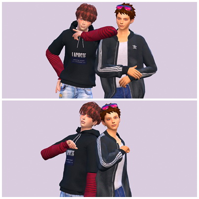 Sims 4 6 group poses & 1 solo pose at Panna Sims