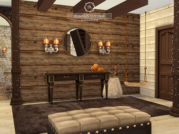Pumpkin Cottage by Aquarhiene at TSR image 930 Sims 4 Updates