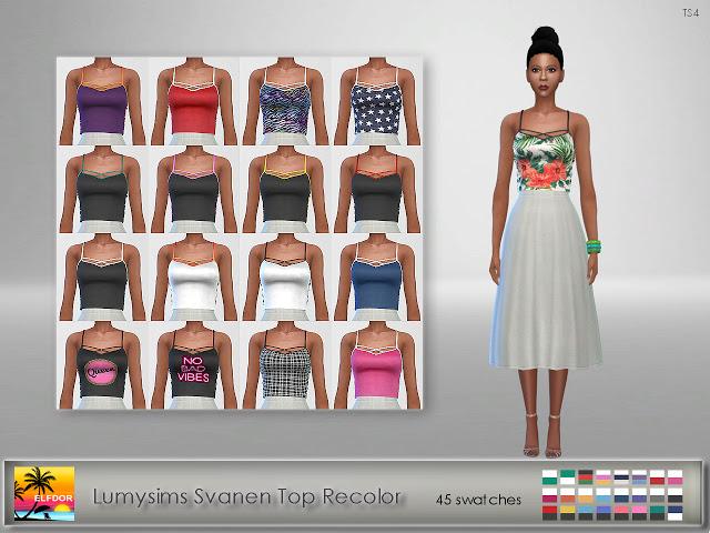 Sims 4 Lumysims Svanen Top Recolor at Elfdor Sims