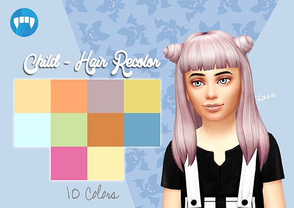 Sims 4 Hair Recolor for kids at Kass