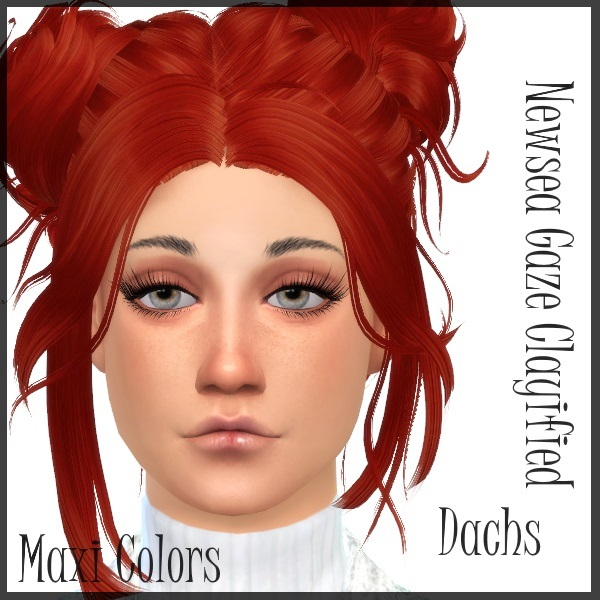 Sims 4 Newsea gaze hair (clayed and Alpha) at Dachs Sims