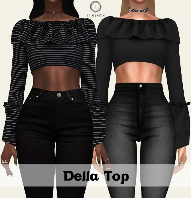 Sims 4 Della Top at Lumy Sims