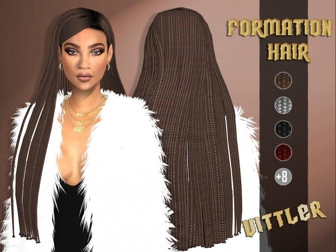 Sims 4 Formation Hair at Vittler Universe