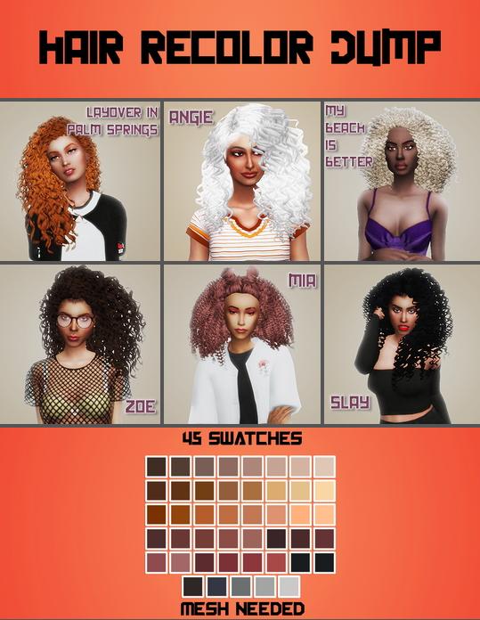 Hair Recolor Dump at Meraki – simblrdearie image 982 Sims 4 Updates