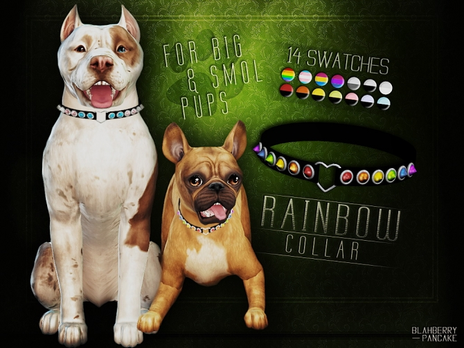 Rainbow Collar For Dogs At Blahberry Pancake 187 Sims 4 Updates
