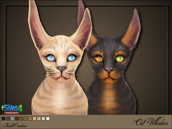 Sims 4 Cat Whiskers by MahoCreations at TSR