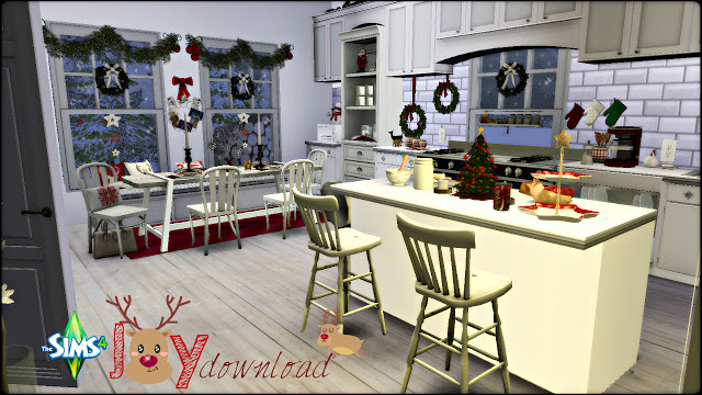 Joy Christmas Kitchen by Rissy Rawr at Pandasht Productions. Sims 4 Rooms downloads   Sims 4 Updates