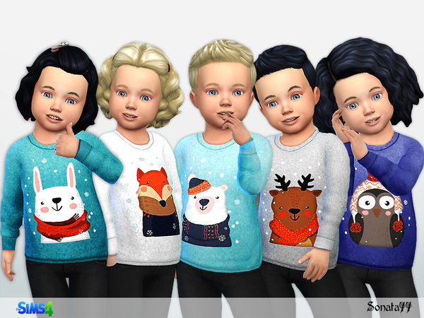 Sims 4 Sweatshirt with funny animals T by Sonata77 at TSR