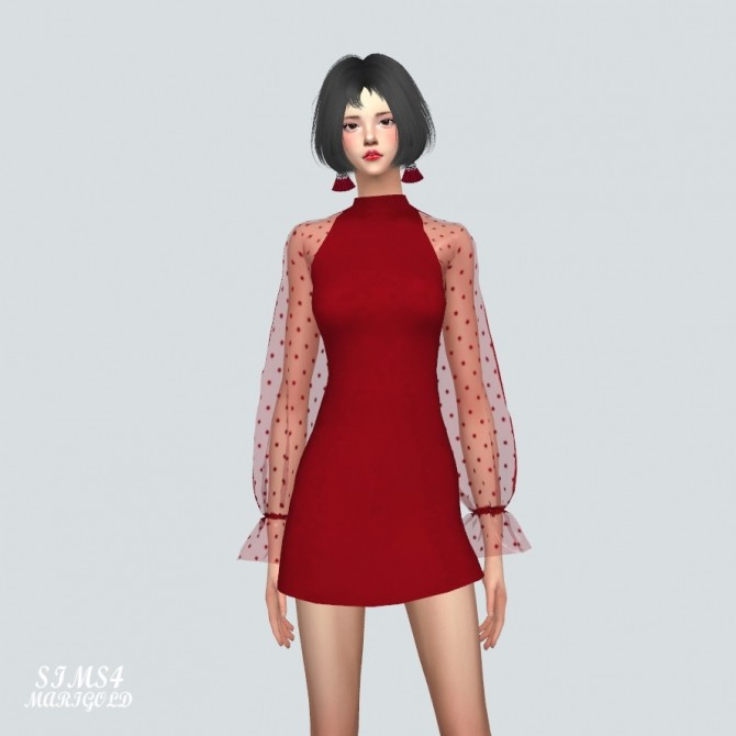 See Through Lovely Dress at Marigold image 10314 670x670 Sims 4 Updates