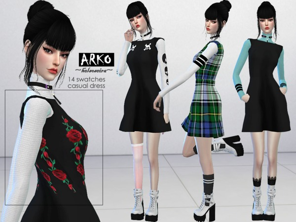 ARKO FM Casual Dress by Helsoseira at TSR image 1040 Sims 4 Updates