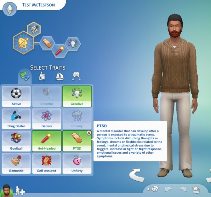 PTSD Trait v1.0 by piebaldfawn at Mod The Sims image 10512 670x628 Sims 4 Updates