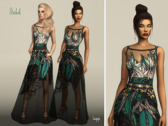 Isabel long dress at Laupipi image 1063 Sims 4 Updates