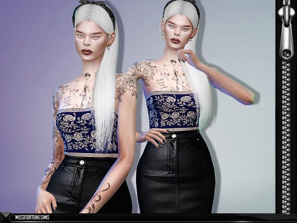 Sims 4 MFS Alia Dress by MissFortune at TSR