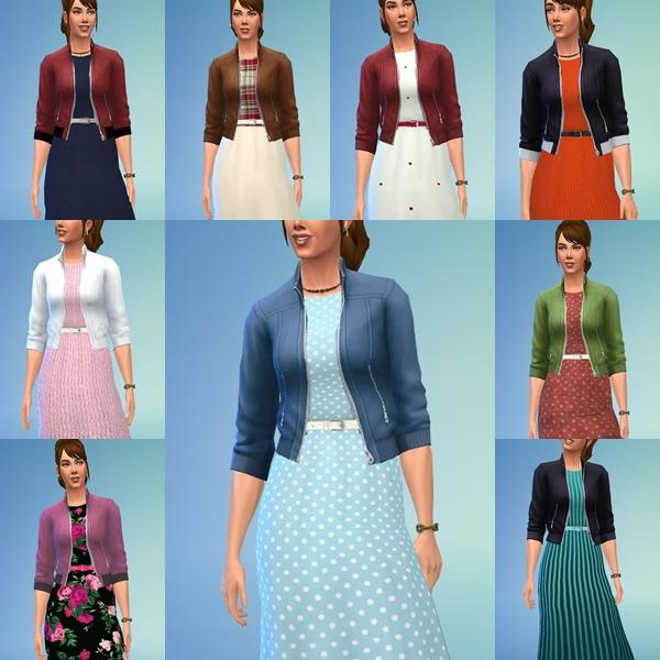 Sims 4 Ladys Autumn Dress at Birksches Sims Blog