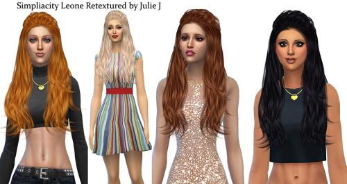 Sims 4 Simpliciaty Leone Hair Retextured at Julietoon – Julie J