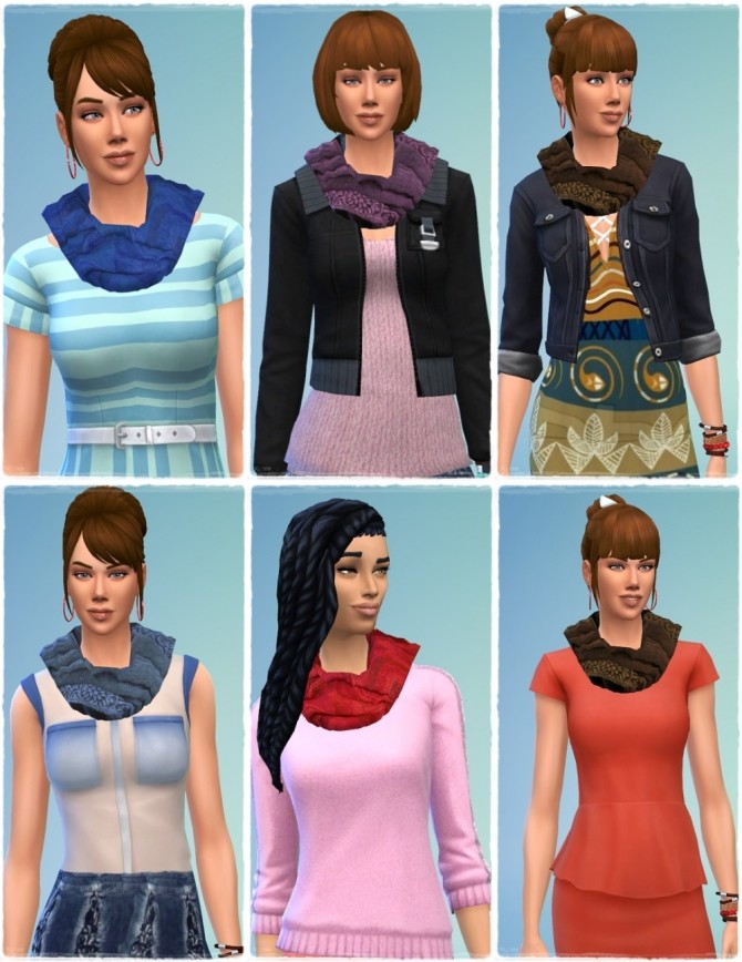 Wool Scarf female at Birksches Sims Blog image 1092 670x868 Sims 4 Updates