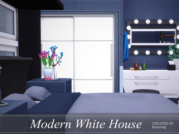Sims 4 Modern White House by Runaring at TSR