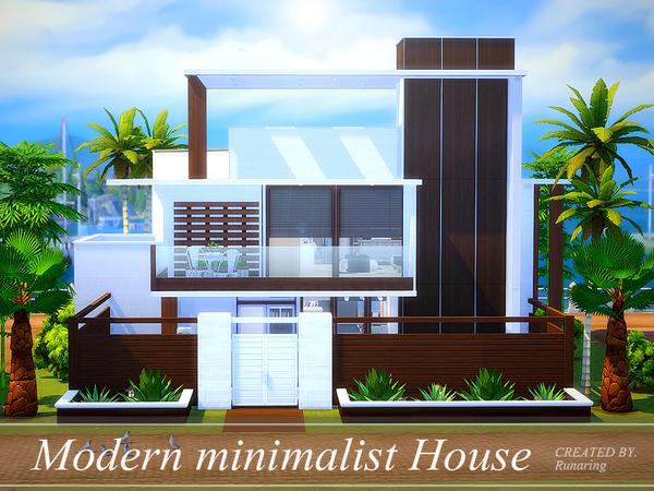 Modern minimalist house by Runaring at TSR » Sims 4 Updates