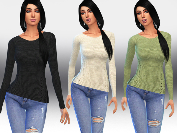 Sims 4 Women Casual Pullovers by Saliwa at TSR