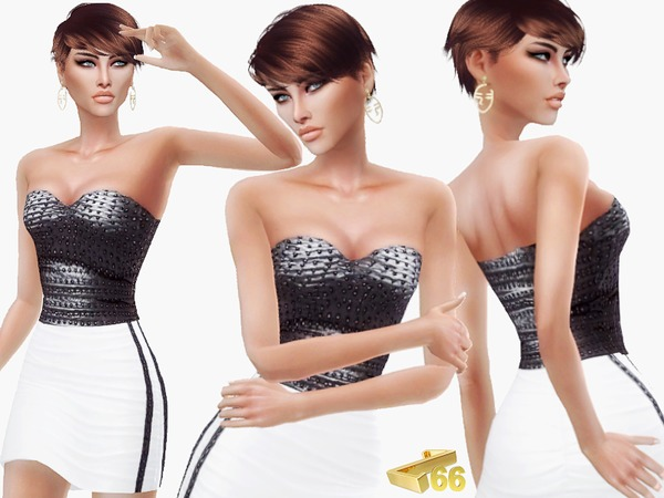 Sims 4 New Years Party Dress by ZitaRossouw at TSR