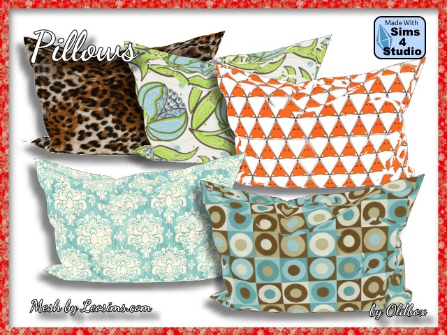 Sims 4 Pillow recolors by Oldbox at All 4 Sims