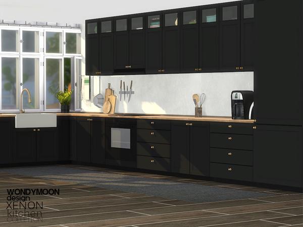 Xenon Kitchen by wondymoon at TSR image 11214 Sims 4 Updates