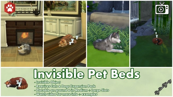 Sims 4 Invisible Pet Beds by Bakie at Mod The Sims