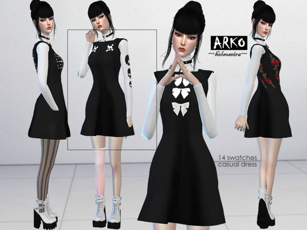 ARKO FM Casual Dress by Helsoseira at TSR image 1140 Sims 4 Updates