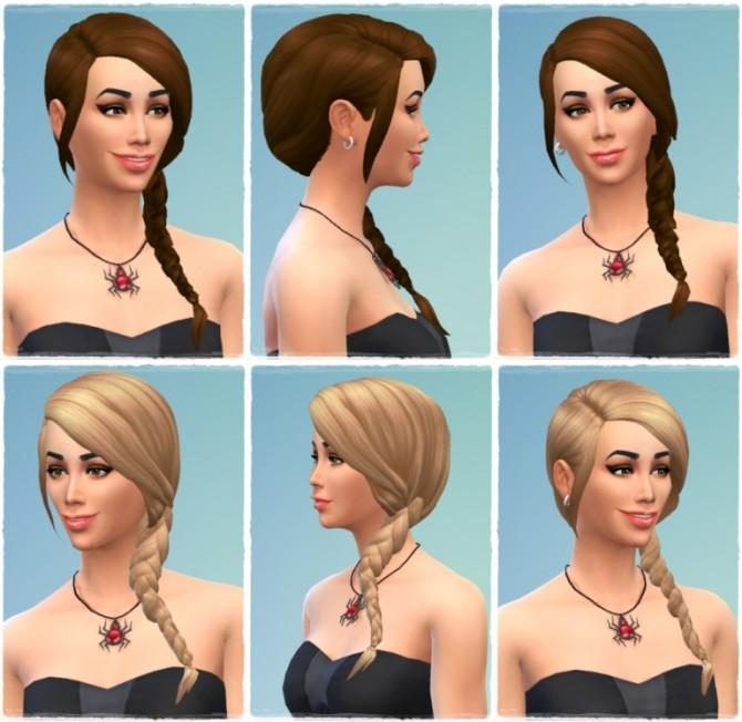 Sims 4 Ivana's SideBraid at Birksches Sims Blog