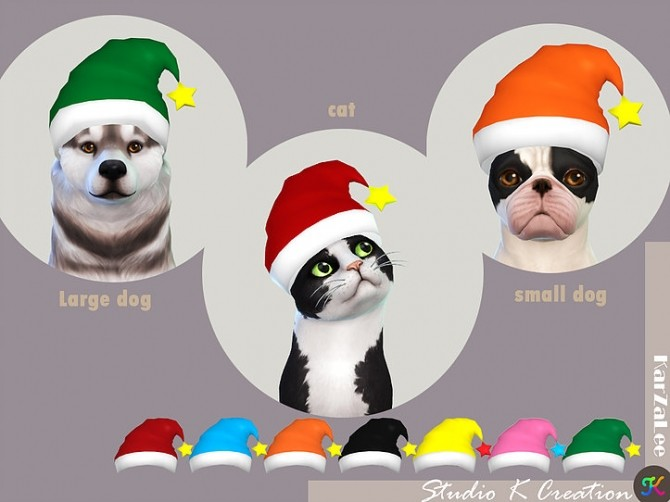 Christmas hat for pet at Studio K Creation image 1147 670x502 Sims 4 Updates