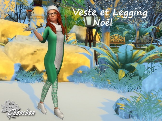 Christmas Top and Leggings by Chanchan24 at Sims Artists image 1157 670x503 Sims 4 Updates
