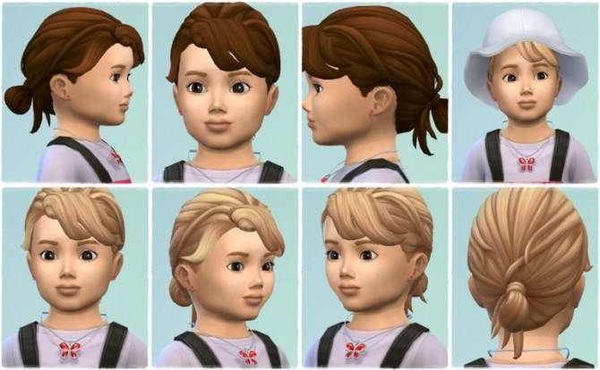Sims 4 Baby Knot hair at Birksches Sims Blog