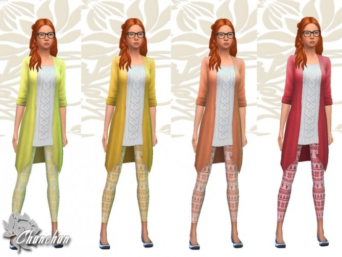 Sims 4 Christmas Top and Leggings by Chanchan24 at Sims Artists