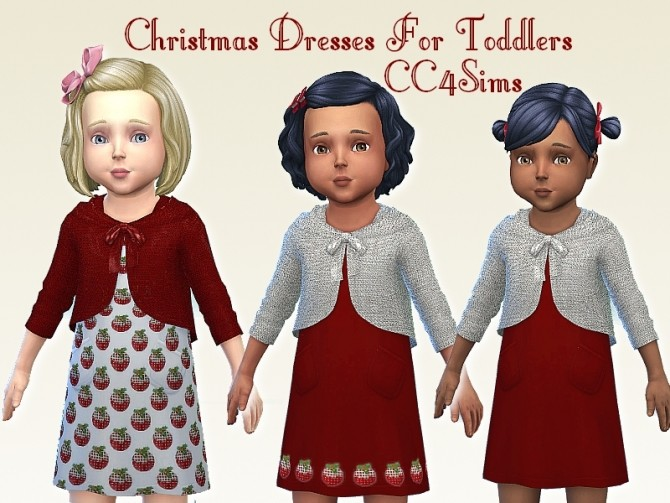 Christmas dresses T by Christine at CC4Sims image 1168 670x503 Sims 4 Updates