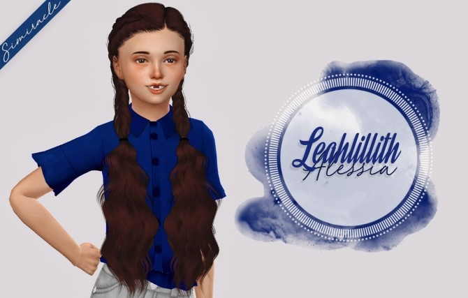 Sims 4 LeahLillith Alessia Hair Kids Version at Simiracle