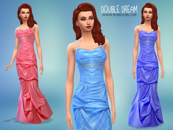 Sims 4 Double Dream gown by Simone at Mondo Sims