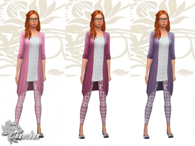 Christmas Top and Leggings by Chanchan24 at Sims Artists image 1177 670x503 Sims 4 Updates