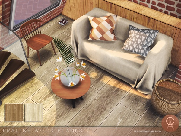 Sims 4 Wood Planks 2 by Pralinesims at TSR